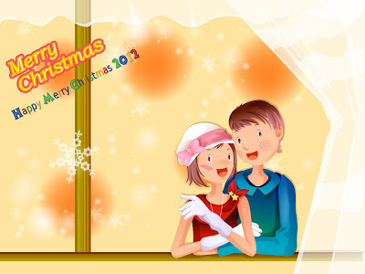 christmas-wallpapers-backgrounds-boy with girl