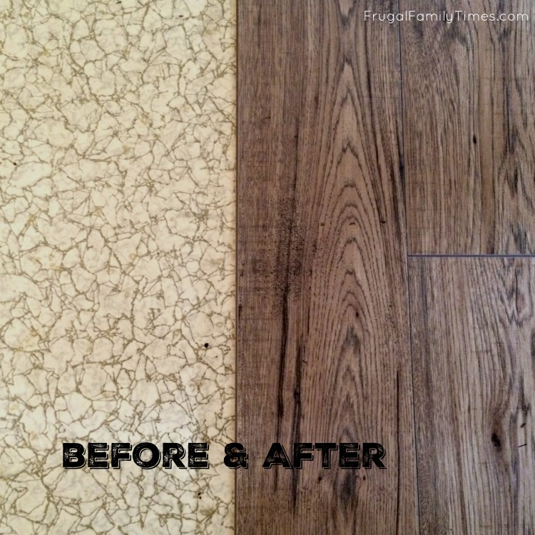 Cheap Easy Floor Makeover Hickory Laminate Getting Laid In The