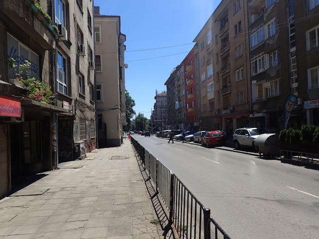 Jedna z główniejszych ulic sofijskiego centrum