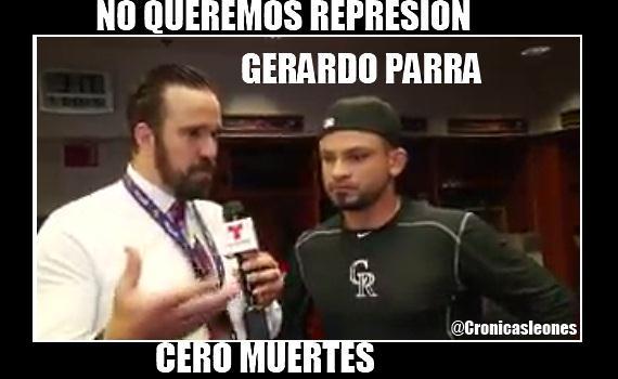 VIDEO @caraquistas Gerardo Parra habla ante Brutal Represion a manifestantes #23May ...