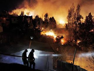 Le Chili ravagé par les feux de forêt. Au moins 7 morts