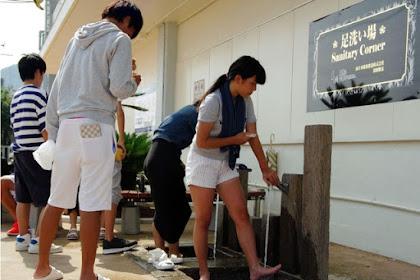 JR須磨駅南側に足洗い場登場