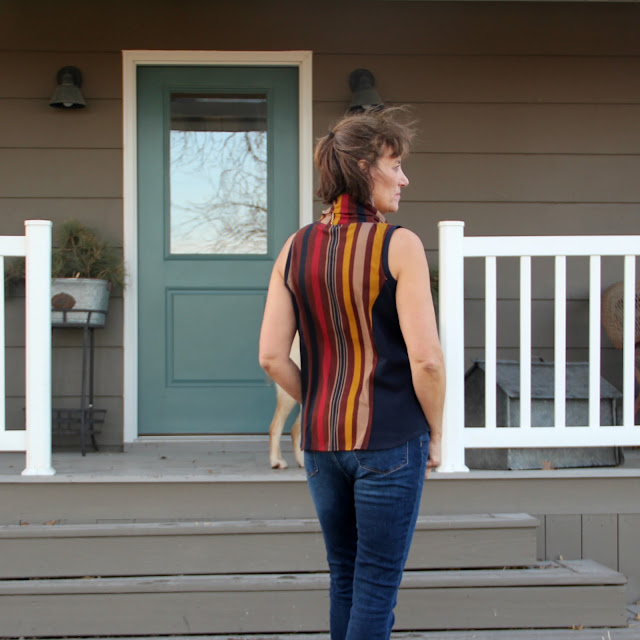 Taos top by Thread Bear Garments made with Mood Fabrics - back