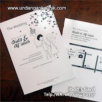 undangan pernikahan unik lucu