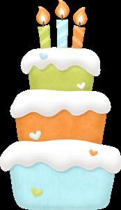 Clipart de Animalitos Celebrando un Cumpleaños.