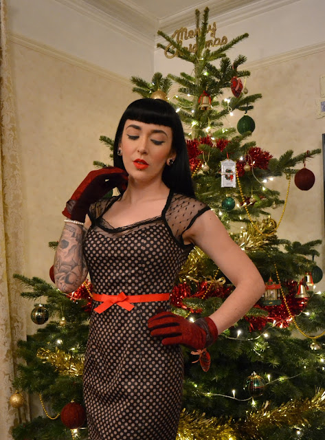 1950s vintage style Betty Dress Christmas