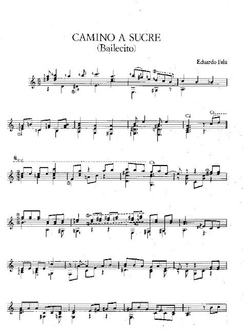Partitura Guitarra Eduardo Falu