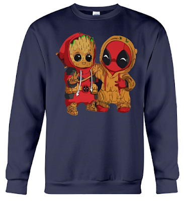 deadpool and baby groot, deadpool and baby groot t shirt, deadpool and baby groot hoodie