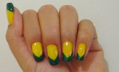 como pintar minha unhas para torcer pelo Brasil