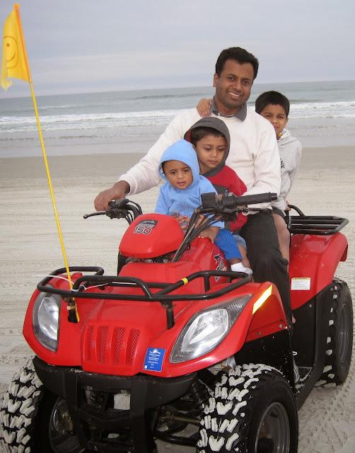 Tony John with his sons