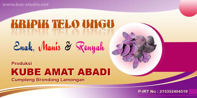 Label Telo Ungu