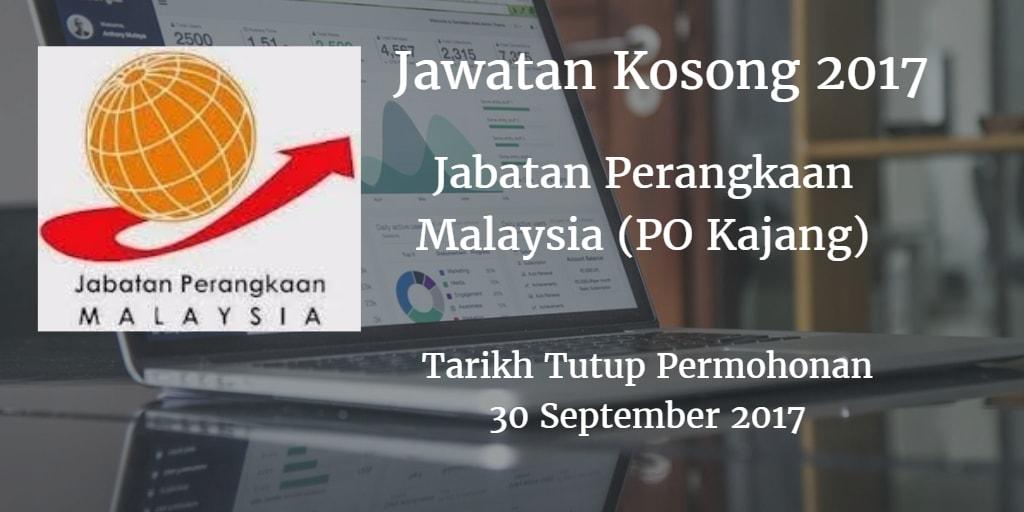 Jawatan Kosong Jabatan Perangkaan Malaysia (PO Kajang) 30 September 2017