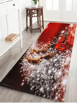 Christmas Sled Print Antislip Bath Mat