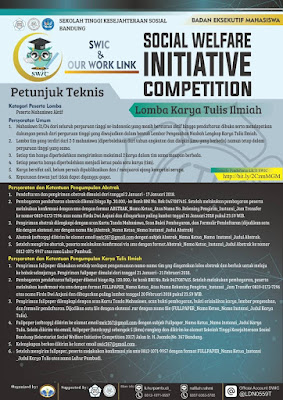 Lomba Karya Tulis Ilmiah Nasional SWIC 2018 di STKS Bandung