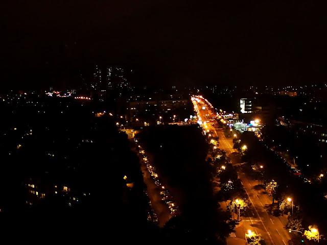 Nocna panorama stolicy Serbii