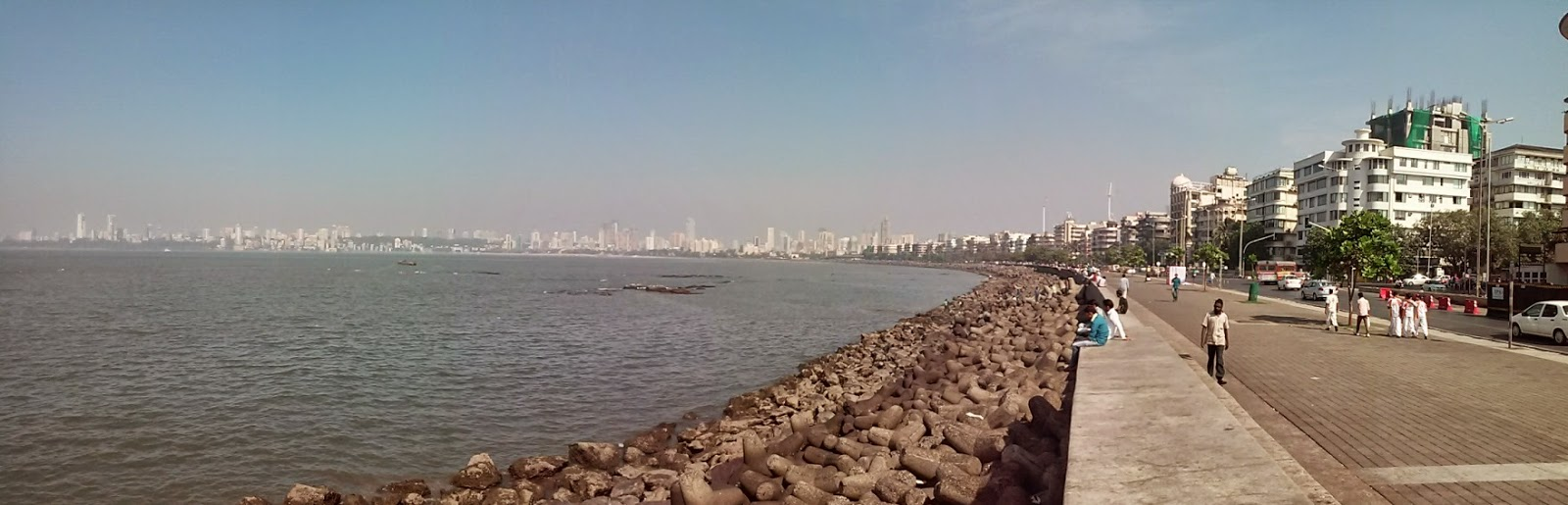 bord de mer a mumbai bombay