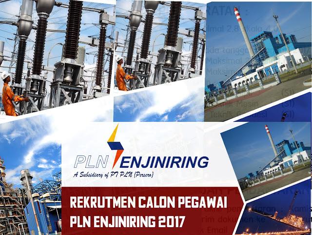 Lowongan Kerja PT PLN Enjiniring Februari 2017 (Fresh Graduate/ Experience)