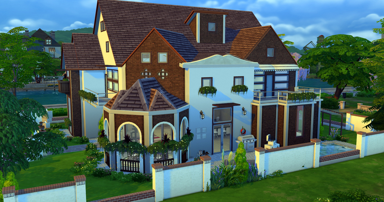 Small Farmhouse Plans Dream Home Palace Sims 4 Houses