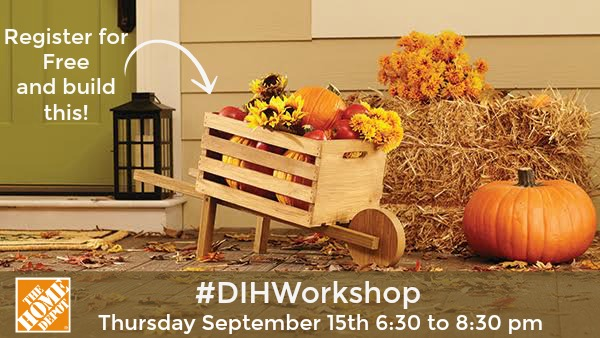 The Home Depot #DIHWorkshop Rustic Wheelbarrow, MyLove2Create