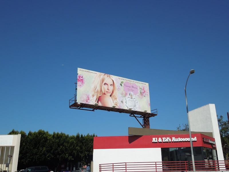 Jessica Simpson Vintage Bloom fragrance billboard