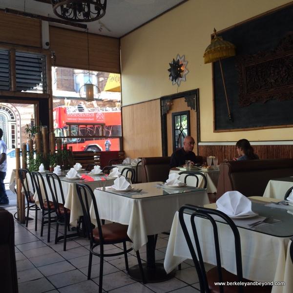 interior of Borobudur Indonesian restaurant in San Francisco