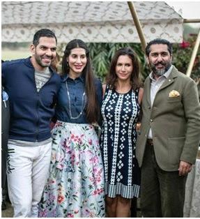 Post wedding picture of Sanjay and Priya