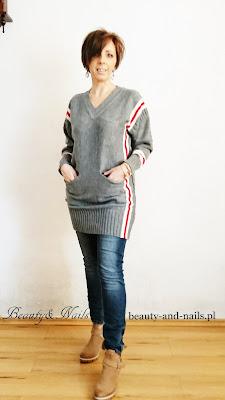 ZAFUL - szary sweterek.