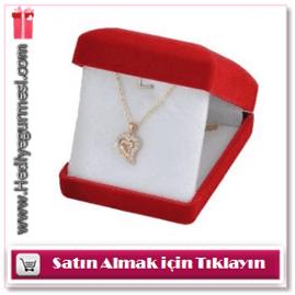 Sultan Altun Taşlı Kalp Kolye