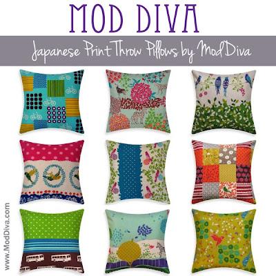 ModDiva: Japanese Print Throw Pillows by ModDiva