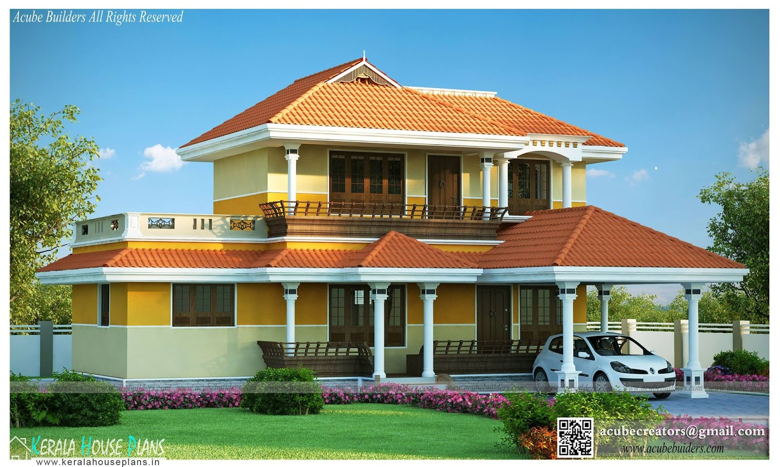 Traditional house plans in kerala kerala house plans for Traditional house plans