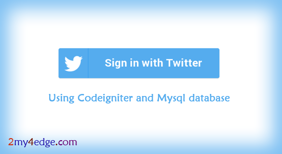 login with twitter in codeigniter