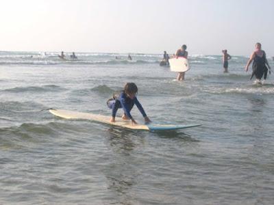 4yr old Tyde surfing