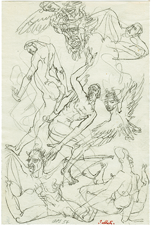 Magical Art of Surreal Romanticism: Sabbath (1954), Austin Osman Spare (sketchbook)