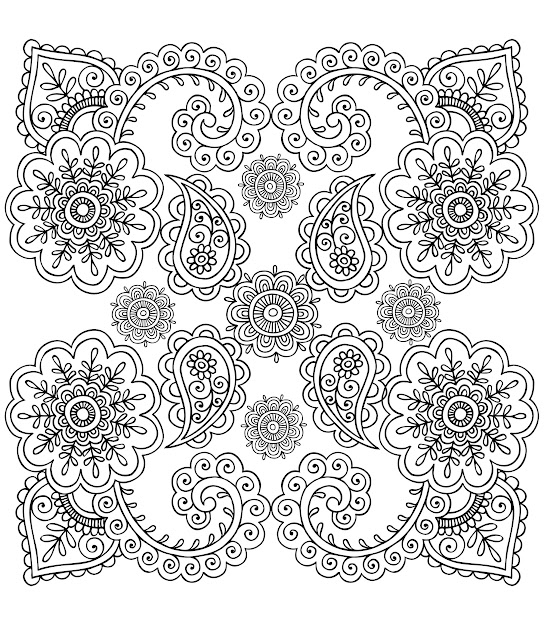 Free Coloring Page Coloringantistressflowers Good And Simple Coloring  Page Perfect For Art Therapy