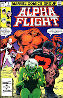 Alpha Flight v1 #2 marvel comic book cover art by John Byrne