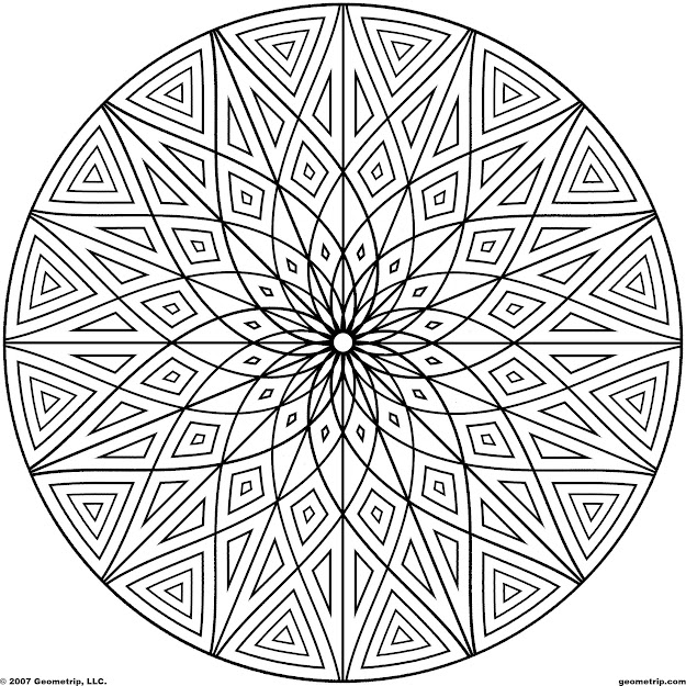 Geometric Design Coloring Pages Printable Tagged With Detailed Coloring Page