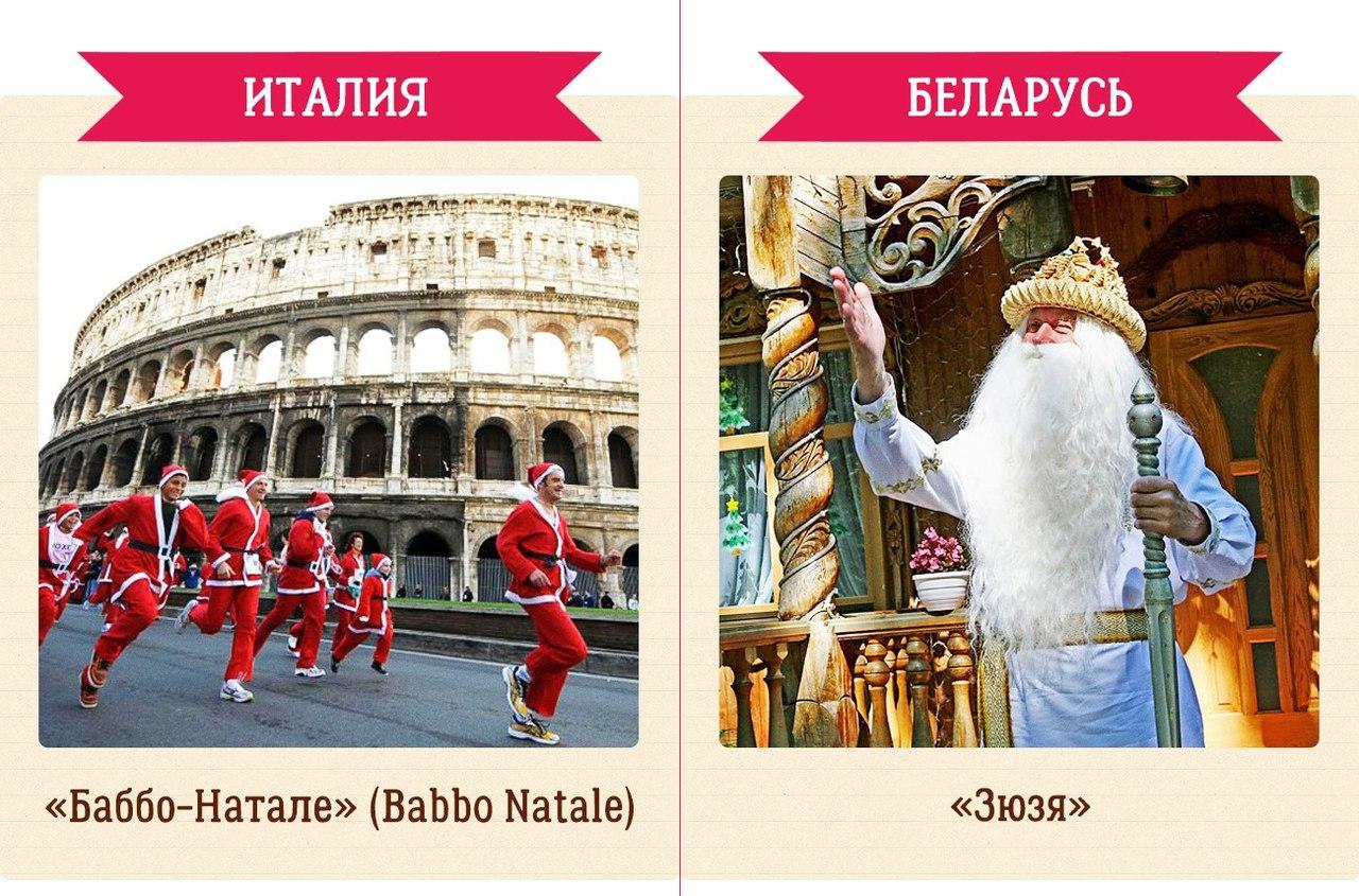 Деды морозы разных стран названия и картинки