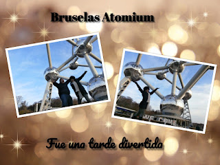 (Imagen) Cuando llegamos al atomium belgica, yo estaba super emocionada. Era mi primera vez en esta capital europea belga