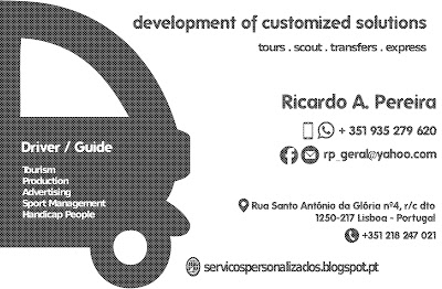 development of customized TOURS & TRANSFERS - Lisboa - Portugal