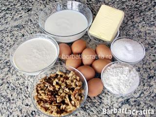 Tort egiptean cu nuca si krantz ingrediente reteta