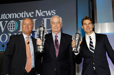 Will Power and Roger Penske receive the BorgWarner Championship Trophies