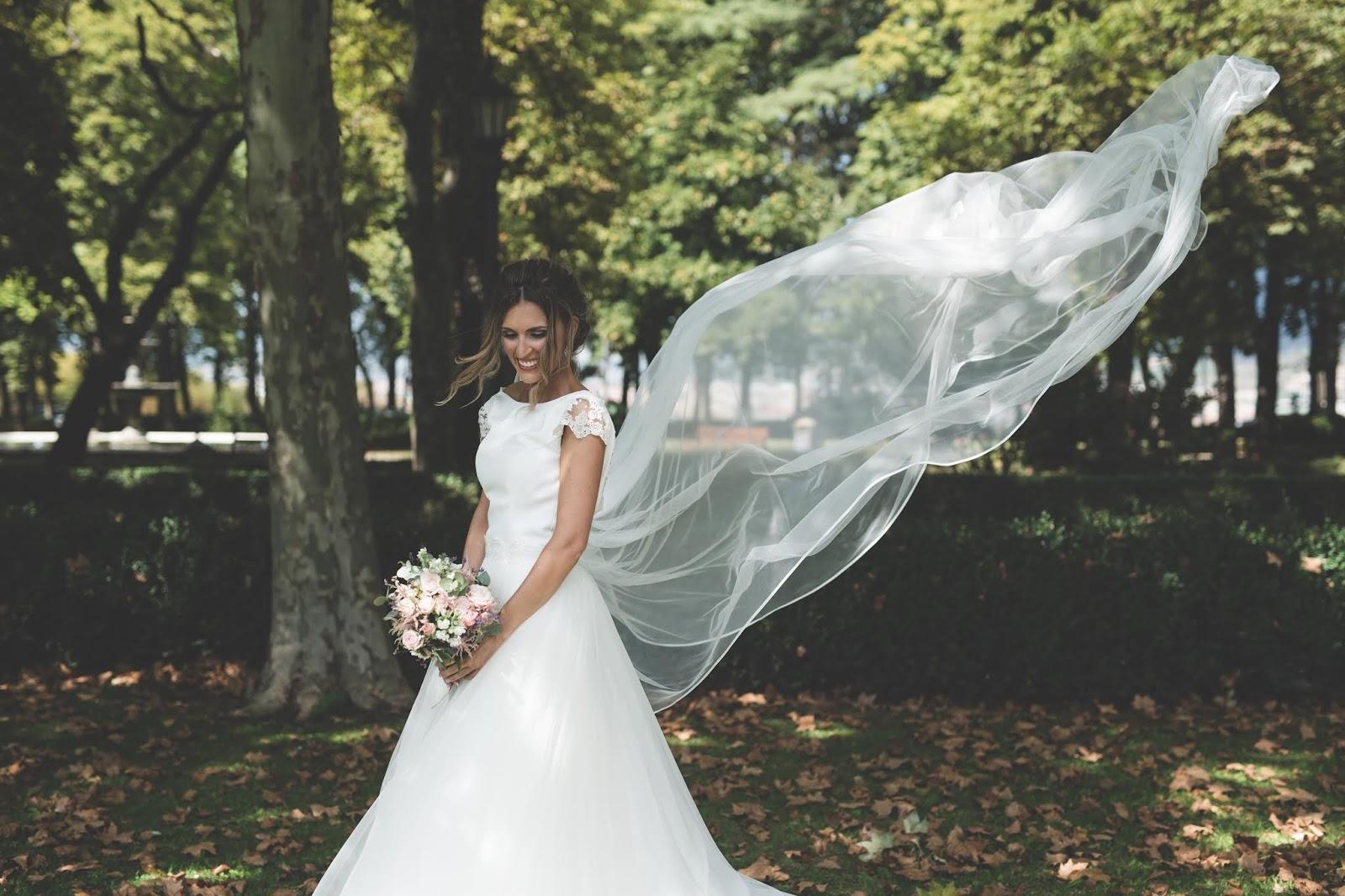vestido novia princesa tul
