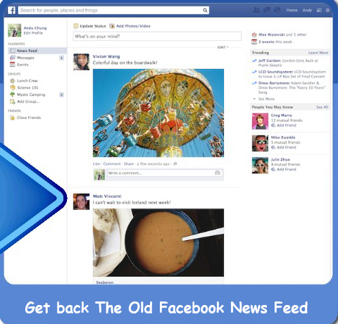 How To Go Back To Facebook's Old News Feed   Get Back Old