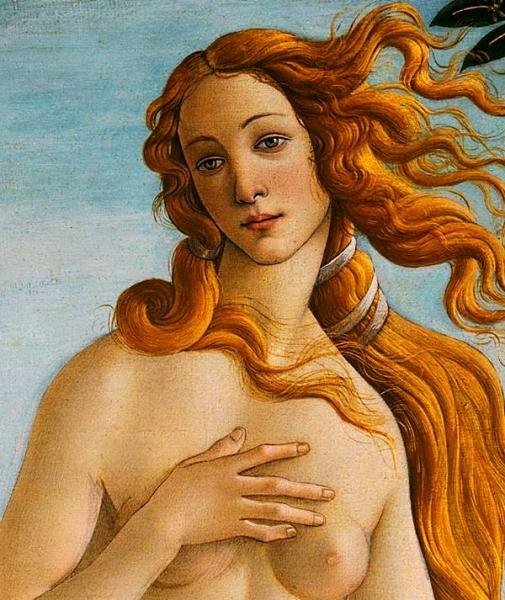 El naixement de Venus -fragment- (Sandro Botticelli)