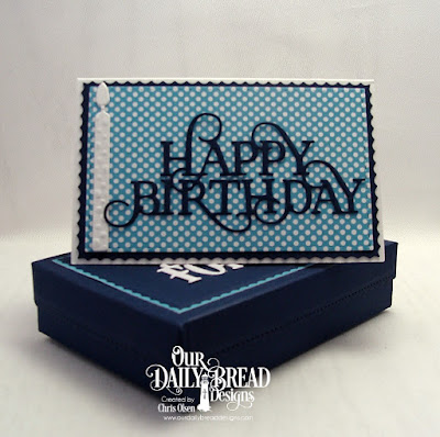 Our Daily Bread Designs, Giving Gift Box dies, Gift Card Holder dies, A Gift for You dies, Happy Birthday Caps dies, Birthday Candle Dies, Today and Every Day Stamp Set as well as the Birthday Brights 6x6 paper collection, designed by Chris Olsen