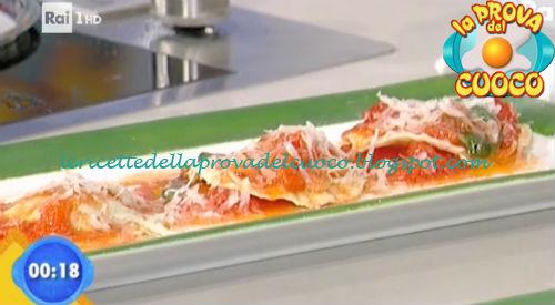 Raviolini ai funghi e monteveronese al pomodoro ricetta Salvatori da Prova del Cuoco