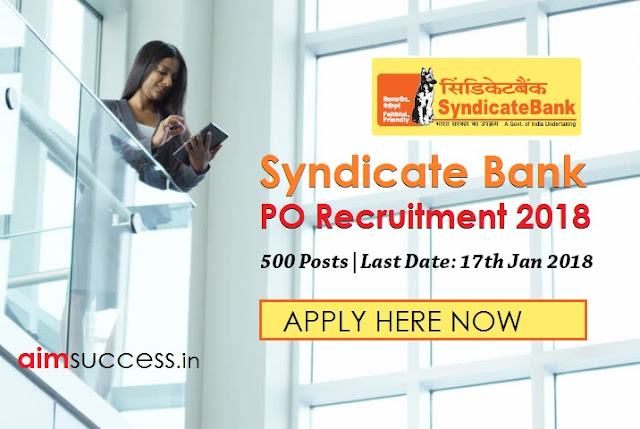 Syndicate Bank PO Recruitment 2018