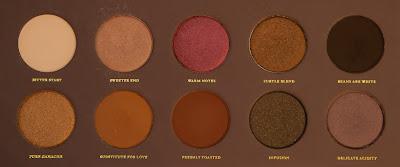 Zoeva Cocoa Blend Palette Close Up