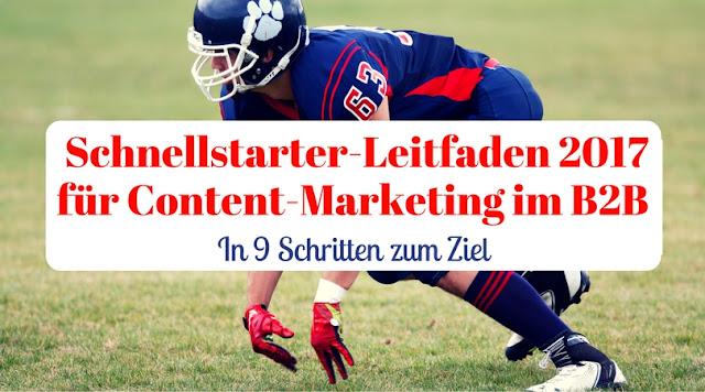 Schnellstarter-Leitfaden 2017 - mit Content-Marketing im B2B in 9 Schritten zum Ziel