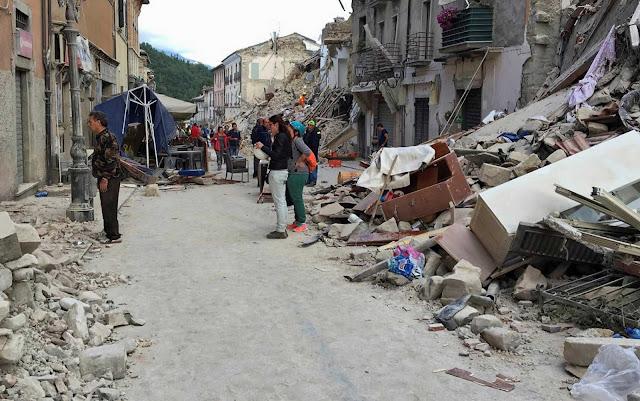 Terremoto atinge a Itália - MichellHilton.com